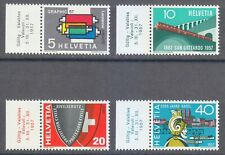 Switzerland 1957 MNH Mi 637-640 Sc 359-362 Railroad,viaduct, machine,Graphic Art