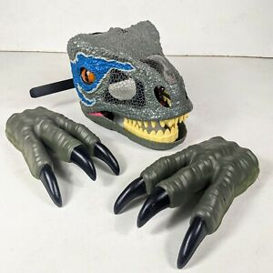 Jurassic World Velociraptor Blue Chomp 'N Roar Mask & Claws Gloves