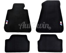 BMW 1 Series E87 120i 123d 130i Black Floor Mats With /// M Emblem Clips LHD
