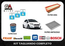 Kit Tagliando Fiat Grande Punto 1.4 Natural Power Gpl 57 Kw Filtri + Olio 5W40