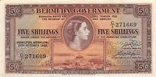 Bermuda  5/-  20.10.1952  P 18a  Series  C/1 Circulated Banknote R1117F