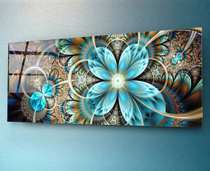 Glasbild Wandbild gehärteres Glas Kunstdruck Deko Bild auf Glas 125 x 50 cm TOP