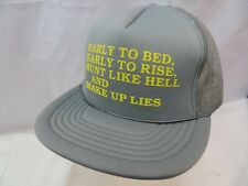 Early Bird Funny Crazy Hunting Hat Trucker Hat Cap Snapback VTG