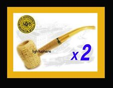 "TWO GENUINE ORIGINAL CORN COB PIPES  MISSOURI MEERSCHAUM Co  CURVED  ""LEGEND"""