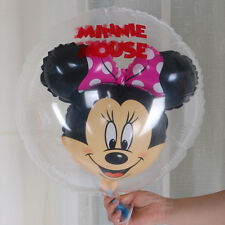 10ps Minnie In Ball Foil Balloons Minnie Mouse with Red Bow Birthday Party Decor