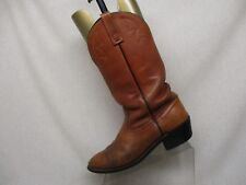 Red Wing Tan Leather Slouch Cowboy Western Boots Mens Size 11 B Style 9809