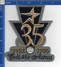 Authentic MLB- Houston Astros Colt .45 35th Anniversary patch NOS 1996 Gray