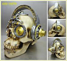 Steampunk Cyber Futuristic Gothic SKULL Skeleton HEAD Sculpture Halloween Decor