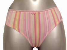 New Rose Stripe Briefs UK Small Warner's Knickers Candy Colours Pretty Pink