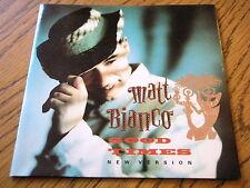 """Matt Bianco-Buenos Tiempos Vinilo De 7"""" PS"""