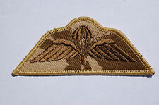 British Army Parachute Wings- Subdued Desert Camo Patch -  No503