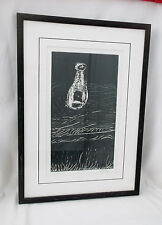 "Rare ""Vessel"" by Joe Higgins Signed/Matted/Framed-1/1-24 1/4 X 17 1/4"" Monoprint"