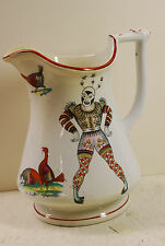 Harlequin puzzle jug, Elesmore & Forster, transfer prints, English ,circa 1860