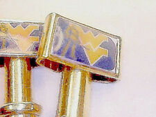 2- West Virginia Cribbage Board Pegs USA Polished Brassl. Free Velvet Pouch a