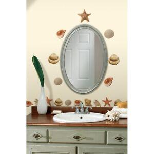 SEA SHELLS WALL DECALS 41 New Tropical Bathroom Stickers Ocean Room Decor