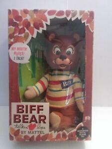 1965 BIFF BEAR MATTEL TALKING PUPPET IN BOX VINTAGE TOYS DOLL VINTAGE TOYS WORKS