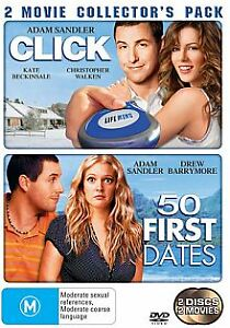 Click  / 50 First Dates (DVD, 2007, 2-Disc Set)*r4*Terrific Condition