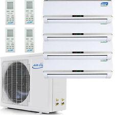 QUAD Zone Ductless Mini Split Air Conditioner, Heat Pump 36000 BTU: 9000 x 4