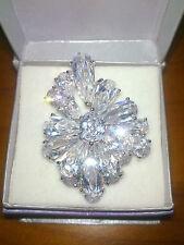SALE! Big Statement Simulated Diamond Silver Ring! RETAIL $599