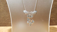 """18k white gold butherfly Diamonds pendant with 20"""" chain."""