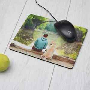 Personalised Photo Fabric topped mousemat 4.5 mm thick