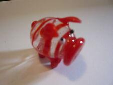 cochon en verre coloré MURANO glass rouge