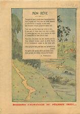 Poème mon Rêve de Arsène Vermenouze poète auvergnat France 1931 ILLUSTRATION