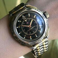 Vintage Bicolored Komandirskie 12 Star VOSTOK Date Military Formal Wristwatch