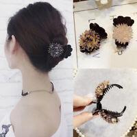 Women's Crystal Hair Claws Clips Hairpin Clamp Flower Hair Pins Accessories