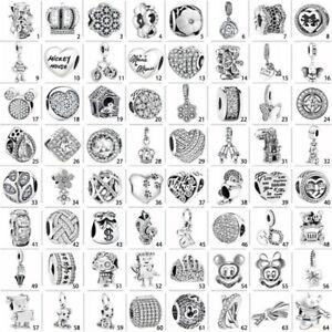 Crystal Flower 925 Silver Charms Pendant Bead For European Bracelet Chain Bangle