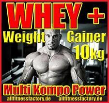 (4,99 Eur/kg) Whey + Weight GAINER 10kg Eiweiß schneller Muskelaufbau Massgainer
