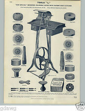 1905 PAPER AD 16 PG Watchmaker Jewelers' Tools Foot Power Polishing Lathe Wheel