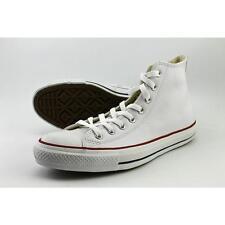 Converse Chuck Taylor All Star Hi White Leather Men Women Classic Shoes 132169c UK 9