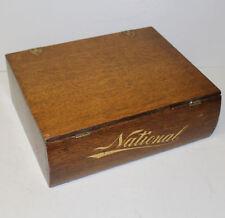 Antique Oak National Cash Register Company Filing Case File Box