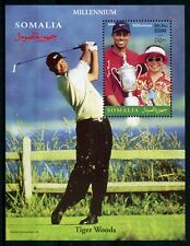 Somalia 2000 MNH Tiger Woods 1v S/S Golf Sports Stamps