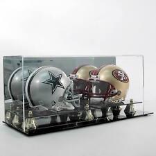 NEW Saf-T-Gard Double NFL Mini Football Helmet Deluxe Acrylic Display Case AD11