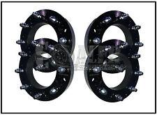 """Set of 4 Skid Steer Wheel Spacers 2"""" Steel 8 Lug Bobcat Case John Deere Terex"""