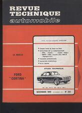 (169A) Revue technique automobile Ford Cortina / Simca 1000 / Opel Kadett