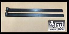 "2 x Strap Straight Hinge 18"" 460mm Self Colour Truck Horsebox Trailer Tipper"