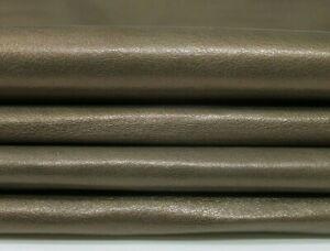 PEARLIZED OLIVE Italian Goatskin leather 6 skins hides total 20sqf 0.7mm #5784