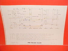 1966 CHEVROLET CORVETTE CONVERTIBLE COUPE 1965 CHEVY VAN FRAME DIMENSION CHART