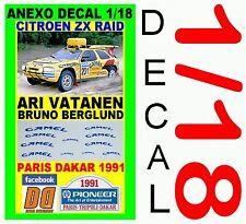ANEXO DECAL 1/18 CITROEN ZX RAID ARI VATANEN PARIS DAKAR 1991 (04)