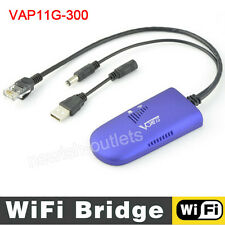 300M Vonets VAP11G-300 Wireless WIFI Bridge Network WLAN Repeater Adapter RJ45