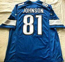 Calvin Johnson 2012 - 2015 Detroit Lions authentic Nike stitched blue jersey NEW