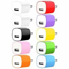 10X USB Home Wall Charger AC Adapter Plug 1A for iPhone 5 6 6S Plus Samsung LG