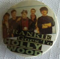 FRANKIE GOES TO HOLLYWOOD - Old Vtg 1980`s Button Pin Badge 25mm