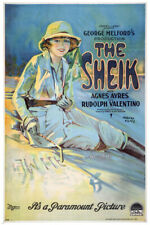 THE SHEIK With Agnes Ayres & Rudolph Valentino MOVIE POSTER 1921 24X36