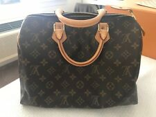 AUTHENTIC Louis Vuittons Handbags Speedy 30 Monogram