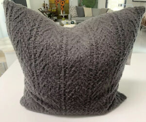 """New. Vince Throw Pillow; Wool/cashmere. 22"""" Square. Olive Green"""