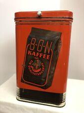 Alte große Blechdose BON KAFFEE -Kaffeedose